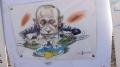 Putin ist hier nicht sonderlich beliebt.