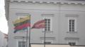 Die Litauische Flagge mal im trockenen.