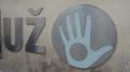 Die Hand ist die Flagge von Uzupis.